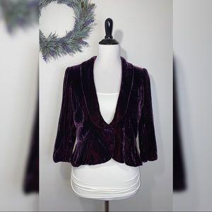 LOFT Velvet 3/4 Sleeve Blazer